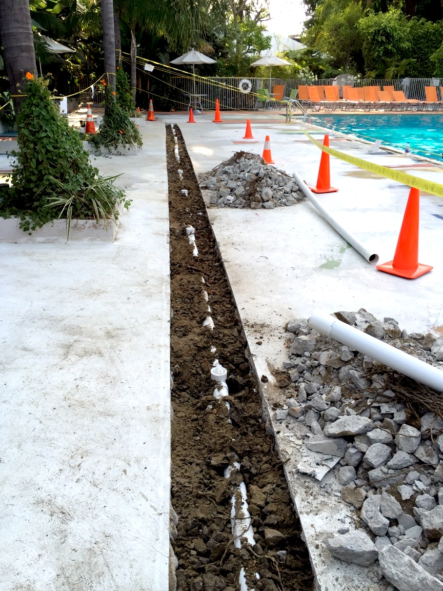 80 Foot Pool Drain Deck Drain For Hotel Honest Plumbing